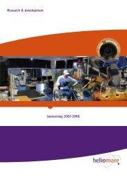 Research & development Jaarverslag 2007-2008 - Heliomare
