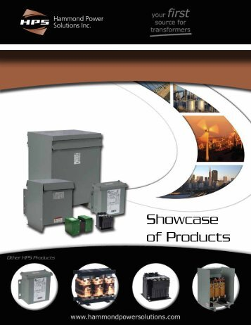 Showcase of Products - Hammond Power Solutions