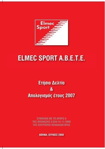 6 Ετήσιες οικονομικές καταστάσεις - Elmec Sport