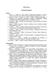 Publikációs jegyzék - Kodolányi János Főiskola