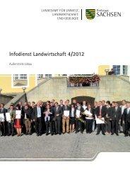 Infodienst Landwirtschaft 4/2012 - Sächsisches Staatsministerium ...