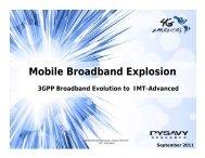 Mobile Broadband Explosion - 4G Americas