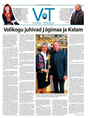 Volikogu juhivad Jõgimaa ja Kelam - Viimsi vald