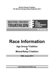 Race Information - ITU World Triathlon Kitzbuehel