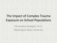 The Impact of Complex Trauma Exposure on ... - WSU Extension