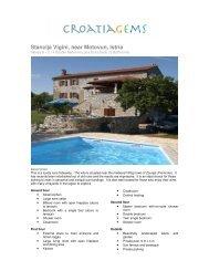 Stancija Vigini, near Motovun, Istria - Croatia Gems