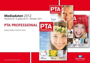 Mediadaten PTA Professional 2012 - media am südstern