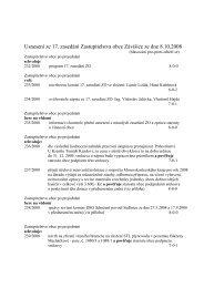 Usnesení ze 17. zasedání Zastupitelstva obce Závišice ze dne 8.10 ...