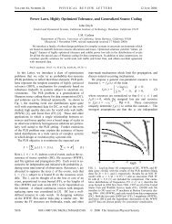 Power Laws, Highly Optimized Tolerance, and Generalized Source ...