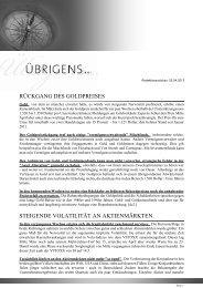 Newsletter vom 25. April 2013 - TOP-Investment GmbH