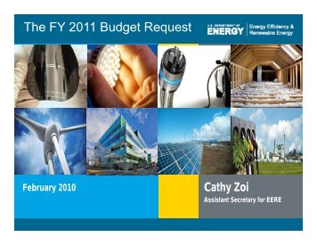 The FY 2011 Budget Request - Environmental and Energy Study ...