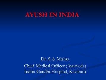 AYUSH IN INDIA - Similima