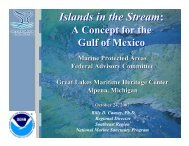 Islands in the Stream - National Marine Protected Area Center - NOAA