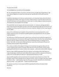 letter - Montana Chamber of Commerce