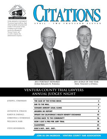 VENTURA COUNTY TRIAL LAWYERS ANNUAL JUDGES' NIGHT