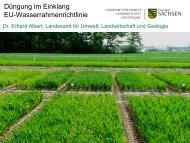 Düngung im Einklang EU-Wasserrahmenrichtlinie - Sächsisches ...