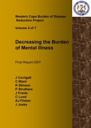(Volume 4) - Mental Health Disorders - Vula - University of Cape Town