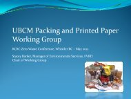 UBCM P ki d P i d P UBCM Packing and Printed Paper Working Group