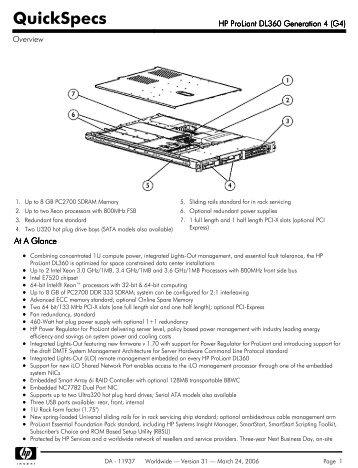 HP ProLiant DL360 Generation 4 (G4) - Nts