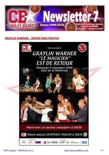 saison 2009-2010 - Spéciale reportage photos ... - Cholet Basket