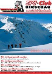 im Feuerforumî o Feurige Angebote im ... - Skiclub Hirschau