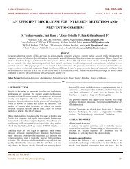 an efficient mechanism for intrusion detection and ... - IJESAT