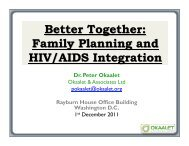 Better Together: Family Planning & HIV/AIDS Integration - Christian ...
