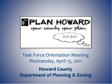 slides - Plan Howard 2030