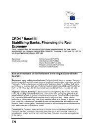 CRD 4 / Basel III: - Othmar Karas