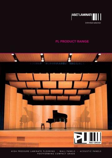 PL PRODUCT RANGE - Abet LTD
