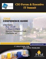 CONFERENCE GUIDE - The Premier CIO Forum by PEM Conferences