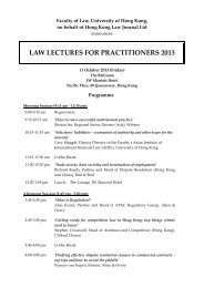 law lectures for practitioners 2013 - Faculty of Law, The University of ...