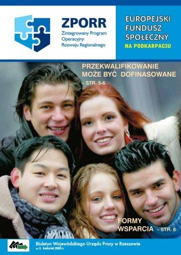 Biuletyn Europejski Fundusz Społeczny na Podkarpaciu nr 3 ...