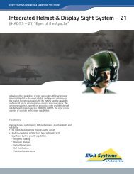 IHADSS-21 Data Sheet - Elbit Systems of America