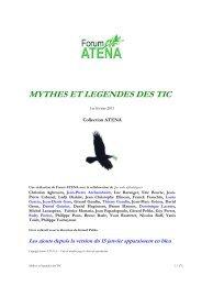 MYTHES ET LEGENDES DES TIC - Forum Atena