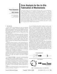 Error Analysis for the In-Situ Fabrication of Mechanisms - Stanford ...
