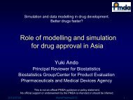 Role of modelling and simulation for drug approval in Asia