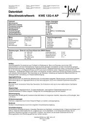 Datenblatt Blockheizkraftwerk KWE 30G-6 AP