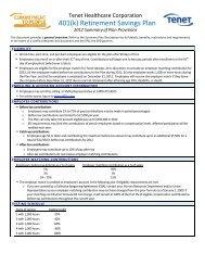 401(k) Retirement Savings Plan - Atlanta Medical Center