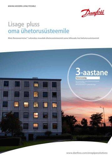 Ühetoru lahenduse reklaamleht - Danfoss