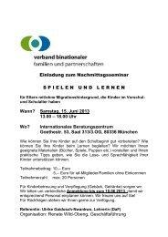 Samstag, 15. Juni 2013 13.00 – 18.00 Uhr Wo? - Kinderbetreuung ...