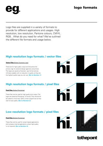 logo formats - To the point Design Consultants