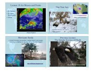 Lecture 18 Air Masses and Fronts One Year Ago Hurricane ... - SOEST