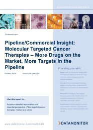 Pipeline/Commercial Insight: Molecular Targeted ... - Datamonitor