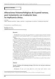 Alteraciones histomorfológicas de la pared venosa, post tratamiento ...
