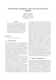 Determining Ambiguity Classes for Part-of-Speech ... - DECCA project