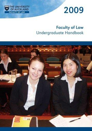 Download the 2009 Faculty of Law Undergraduate Handbook