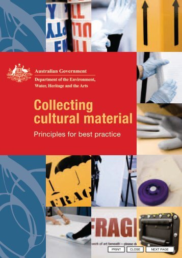 Collecting cultural material—Principles for best ... - Office for the Arts