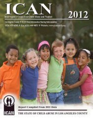 State of Child Abuse Data - ICAN Associates