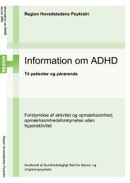 Information om ADHD - Region Hovedstadens Psykiatri
